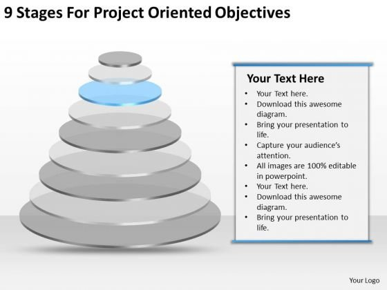 Project Oriented Objectives Ppt Catering Business Plan Template
