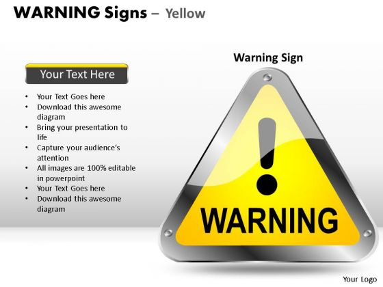 Protection Warning Signs PowerPoint Slides And Ppt Diagram Templates