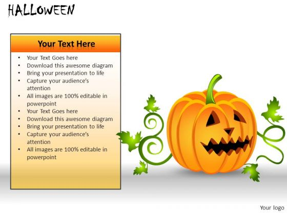 Pumpkin Halloween PowerPoint Slides And Ppt Diagram Templates
