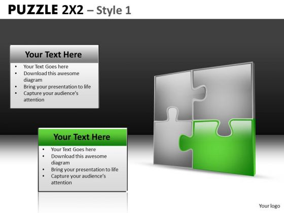 Puzzle Icon Slides With Important Piece PowerPoint Templates And Editable Ppt Slides