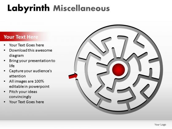 Puzzle Labyrinth Miscellaneous PowerPoint Slides And Ppt Diagram Templates