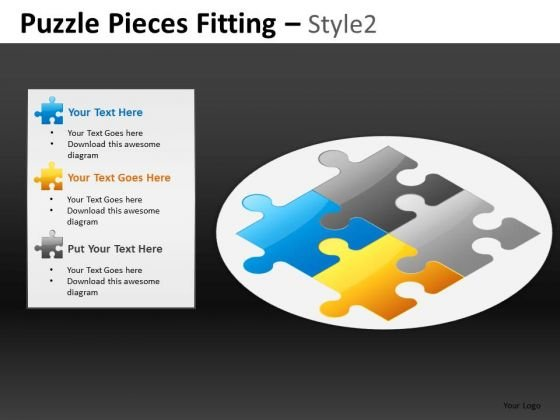 Puzzle Pieces Fitting Style 2 Ppt 11