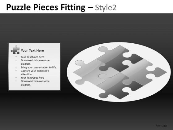 Puzzle Pieces Fitting Style 2 Ppt 9