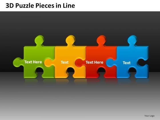 Puzzle Pieces Process Flow Chart PowerPoint Templates