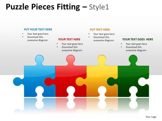 Puzzle Process Flow PowerPoint Slides And Ppt Diagram Templates