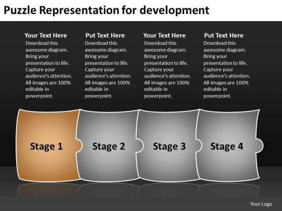 Puzzle Representation For Development Electrical Circuit Simulator PowerPoint Templates