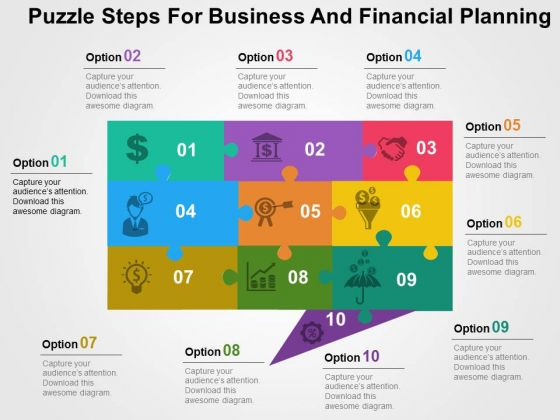 Puzzle Steps For Business And Financial Planning PowerPoint Templates