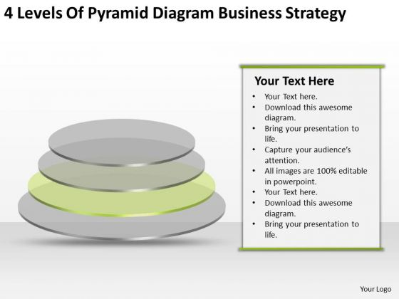 Pyramid Diagram Business Level Strategy Ppt Plan PowerPoint Templates