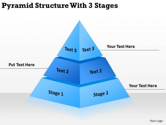 Pyramid Structur With 3 Stages Ppt Business Plan PowerPoint Slides