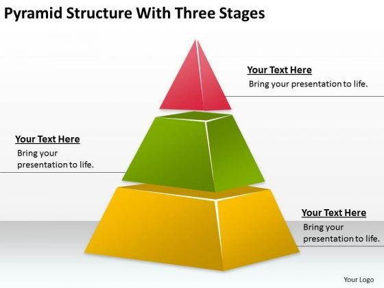 Pyramid Structure With Three Stages Ppt Business Plan Sample PowerPoint Templates