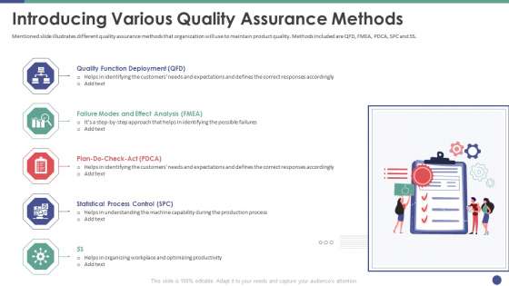 QC Engineering Introducing Various Quality Assurance Methods Ppt Model Ideas PDF