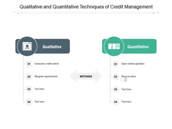 Qualitative And Quantitative Techniques Of Credit Management Ppt PowerPoint Presentation Infographics Example Introduction