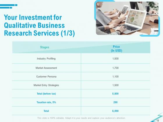 Qualitative_Market_Research_Study_Proposal_Ppt_PowerPoint_Presentation_Complete_Deck_With_Slides_Slide_12