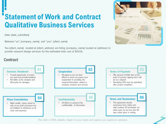 Qualitative Market Research Study Statement Of Work And Contract Business Services Portrait PDF