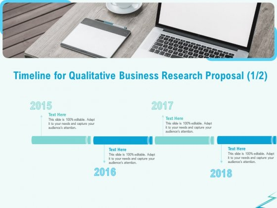 Qualitative Market Research Study Timeline For Qualitative Business Research Proposal Structure PDF