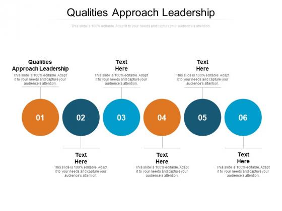 Qualities Approach Leadership Ppt PowerPoint Presentation Ideas Portfolio Cpb