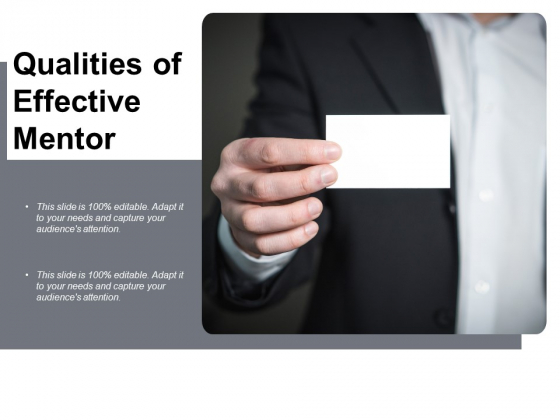 Qualities Of Effective Mentor Ppt PowerPoint Presentation Show Pictures