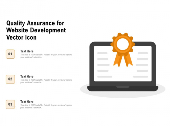 Quality Assurance For Website Development Vector Icon Ppt PowerPoint Presentation File Layout PDF