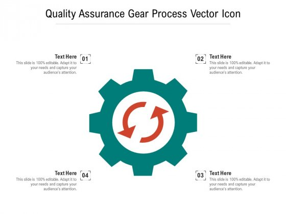 Quality Assurance Gear Process Vector Icon Ppt PowerPoint Presentation Ideas Graphics Pictures PDF