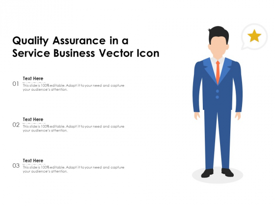 Quality Assurance In A Service Business Vector Icon Ppt PowerPoint Presentation File Information PDF