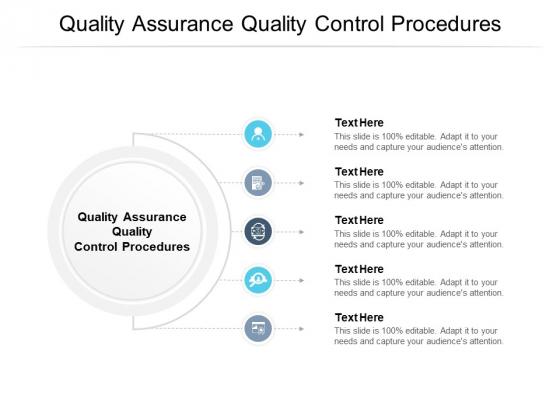 Quality Assurance Quality Control Procedures Ppt PowerPoint Presentation Portfolio Slides Cpb Pdf