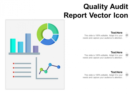 Quality Audit Report Vector Icon Ppt PowerPoint Presentation Slides Graphics PDF