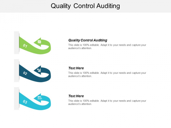 Quality Control Auditing Ppt Powerpoint Presentation Ideas Slides Cpb