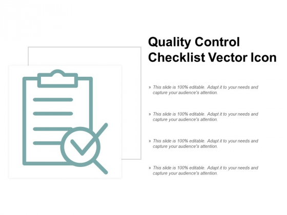Quality Control Checklist Vector Icon Ppt PowerPoint Presentation Portfolio Themes