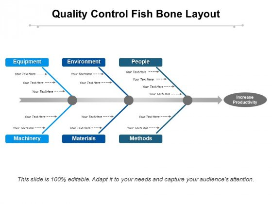 Quality Control Fish Bone Layout Ppt PowerPoint Presentation Slides Infographics PDF