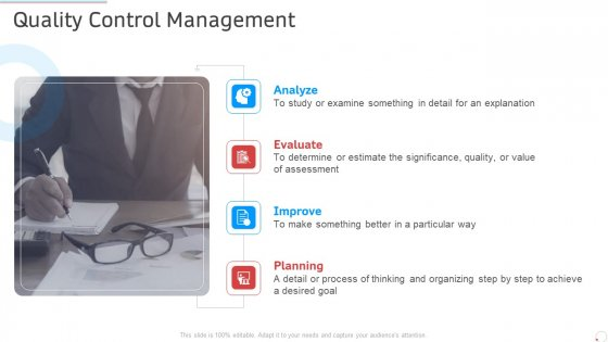 Quality Control Management Manufacturing Control Ppt Inspiration Background Images PDF