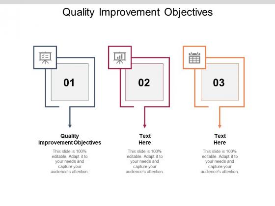 Quality Improvement Objectives Ppt PowerPoint Presentation Ideas Elements Cpb Pdf