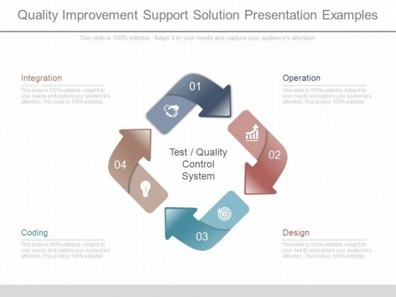 Quality Improvement Support Solution Presentation Examples