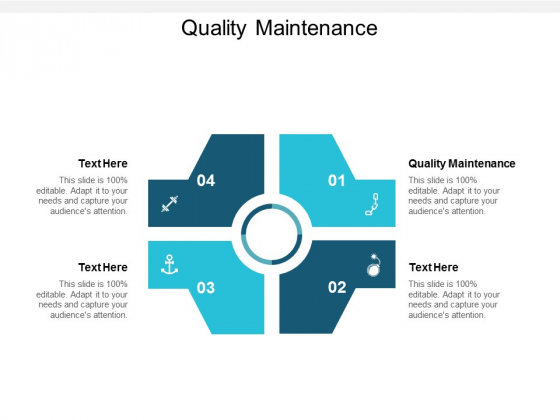Quality Maintenance Ppt PowerPoint Presentation Infographics Structure Cpb