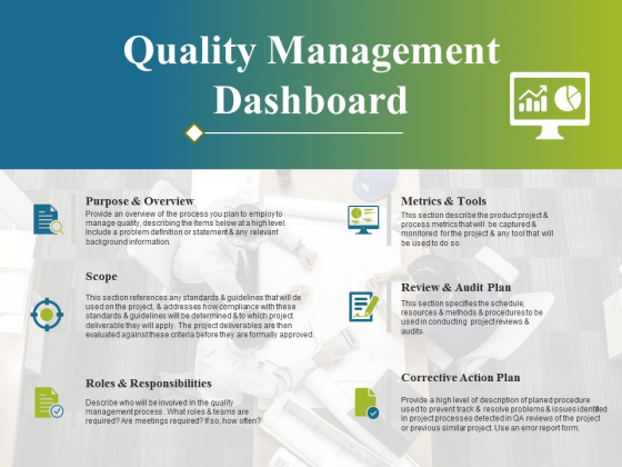 Quality Management Dashboard Ppt PowerPoint Presentation Summary Graphic Tips