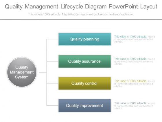 Quality Management Lifecycle Diagram Powerpoint Layout