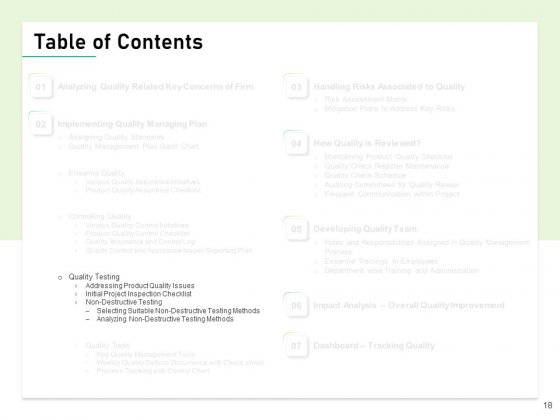 Quality_Management_Plan_QMP_Ppt_PowerPoint_Presentation_Complete_Deck_With_Slides_Slide_18