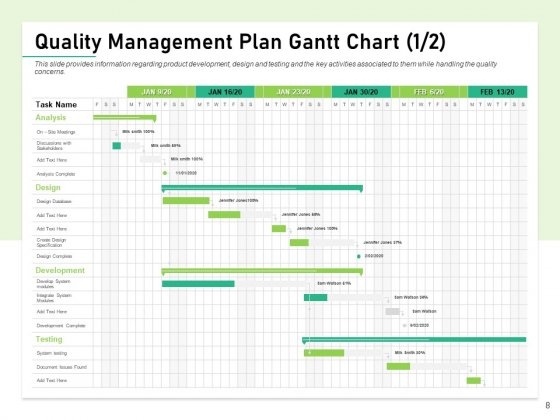 Quality_Management_Plan_QMP_Ppt_PowerPoint_Presentation_Complete_Deck_With_Slides_Slide_8