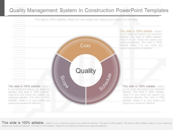 Quality Management System In Construction Powerpoint Templates