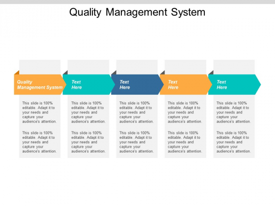 Quality Management System Ppt Powerpoint Presentation Infographics