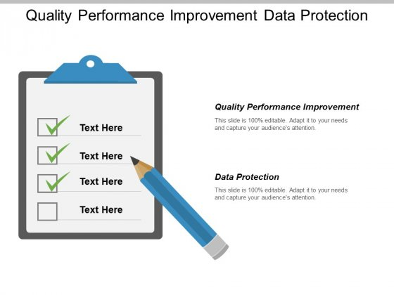 Quality Performance Improvement Data Protection Ppt PowerPoint Presentation Portfolio Grid