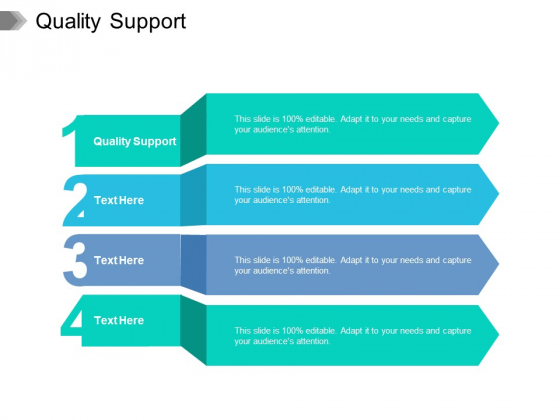Quality Support Ppt PowerPoint Presentation Layouts Background Image Cpb Pdf