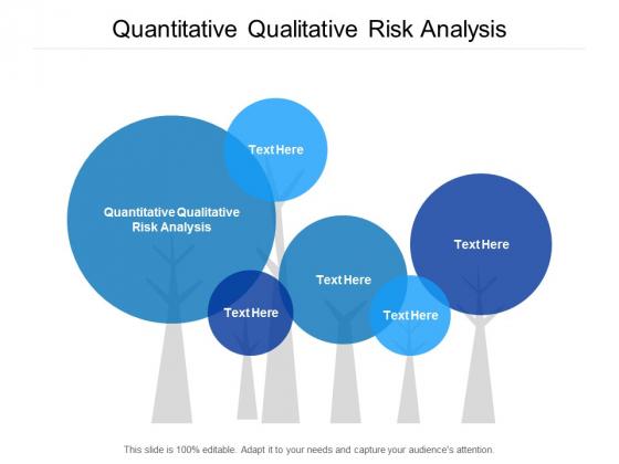 Quantitative Qualitative Risk Analysis Ppt PowerPoint Presentation File Slide Cpb