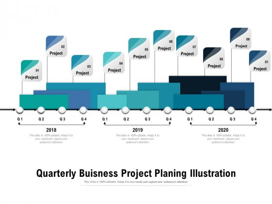 Quarterly Buisness Project Planing Illustration Ppt PowerPoint Presentation Layouts Images PDF