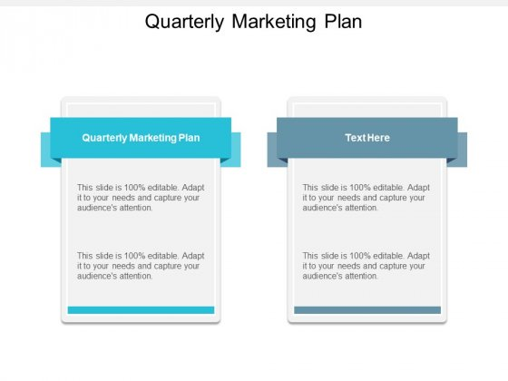Quarterly Marketing Plan Ppt PowerPoint Presentation Pictures Deck Cpb