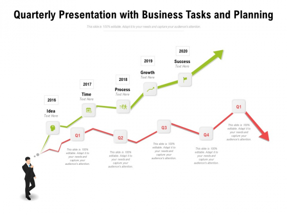 Quarterly Presentation With Business Tasks And Planning Ppt PowerPoint Presentation Portfolio Professional PDF