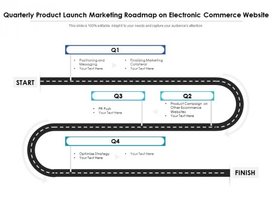 Quarterly Product Launch Marketing Roadmap On Electronic Commerce Website Introduction