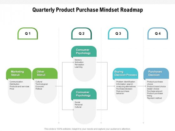 Quarterly Product Purchase Mindset Roadmap Summary