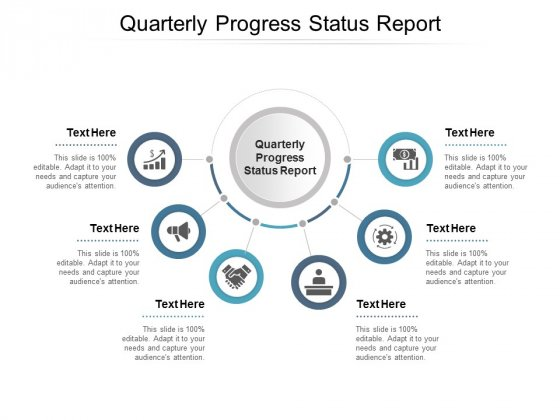 Quarterly Progress Status Report Ppt PowerPoint Presentation Show Inspiration Cpb