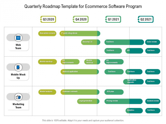 Quarterly Roadmap Template For Ecommerce Software Program Download