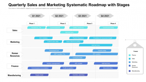 Quarterly_Sales_And_Marketing_Systematic_Roadmap_With_Stages_Guidelines_Slide_1